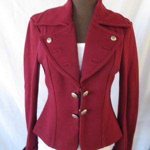 Bebe Dark Red Cadet Coat S
